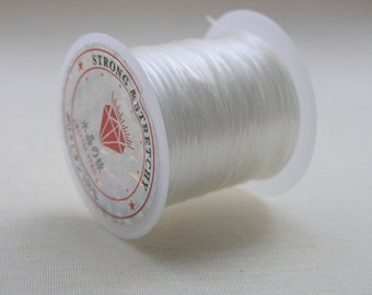 5 Clear White Crystal Stretch Elastic Beading Wire/Thread 11m/0.5mm
