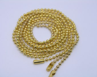 Lot of 20PCS 18'' Golden 2.4mm Bead Ball Chain Necklace Lead Free