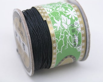 1Roll 125m/136YD Black Chinese Knotting/Beading Silk Cord/Thread 1mm