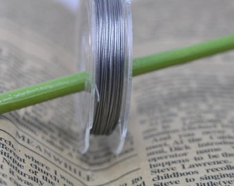 10 Rolls of Size 0.38mm Stainless Steel Tiger Tail Beading Wire Accu Flex Beading Wire 11meters/roll