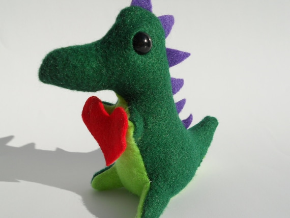 Be My Valentine Dino in green