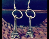 Loop eiffel tower silver earrings - SweetAsCandyVintage