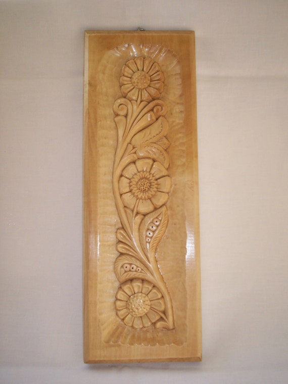 wood wall decor items similar to wood carved wall decor with flower 31074