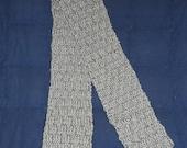 Womens Grey Knit Scarf