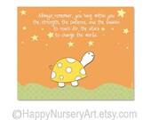 Nursery art, cute quote nursery decor, baby boy wall art, poster for nursery, new baby nursery decor, orange nursery,art for newborn,