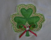 Adorable Shabby Shamrock St. Patrick's Day Onesie or Shirt - Customization and Personalization Available