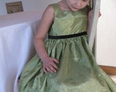 Reserved Custom Dress for Girls - Flower Girl Dress - Princess Dress - Ivory with Shimmery Flowers - Size Made to Order