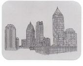 Atlanta Postcards, Drawings of Landmarks, ATL Buildings, Souvenir