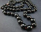 reserved--Black Onyx Prayer Beads,oxidized the clasp