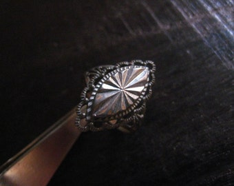 Oxidized Sterling Silver Ring--6.5