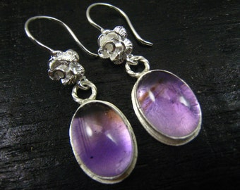 Ametrine Sterling Silver Dangle Earrings