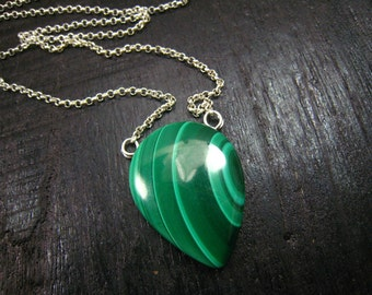 Green Top Quality Genuine Malachite Pandent,Chain Pendant