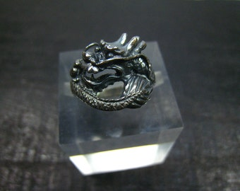 Oxidized Sterling Silver Ring--Size 7.5