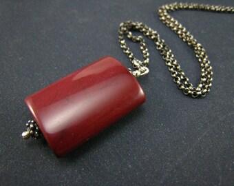 mookaite wedge pendant