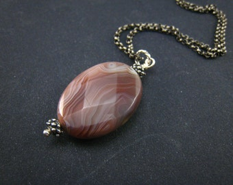 botswana agate pendant--without chain