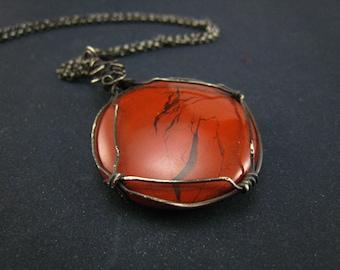Red jasper cabachon Pendant