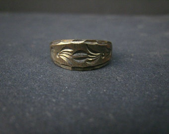 Oxidized sterling silver adjustable ring