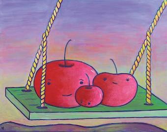 Cherries on a Swing - 11 x 14 Print