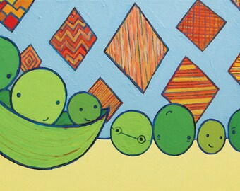 Pea Friends - 11 x 14 Print