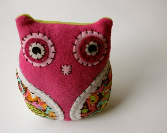 Sweet Pink -  Plush Owl Doll