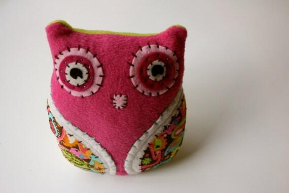 Sweet Pink -  Plush Owl Doll