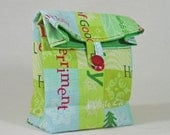 Aqua Red Green Christmas Cotton Gift Bag Party Favor - GiftAgain Mini