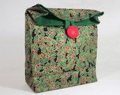 Red Green Gold Holly Berry Christmas GiftAgain Gift Bag