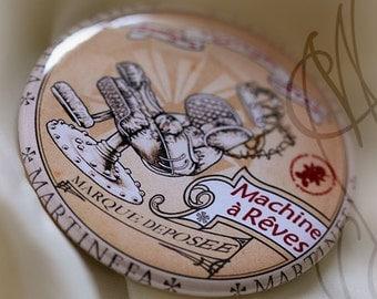 """Badge Steampunk """"Machine à Rêves"""""""