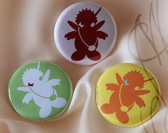 "Assortment three badges ""Fégrelo"""