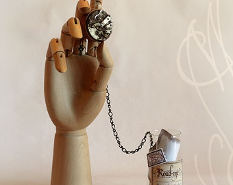 "Romantic message presented in hand personalised steampunk bottle - Message-H - ""It needs time, to win back your love again"""
