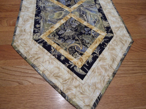 Valley of Kings - Egyptian Themed Table Runner , Black and Gold