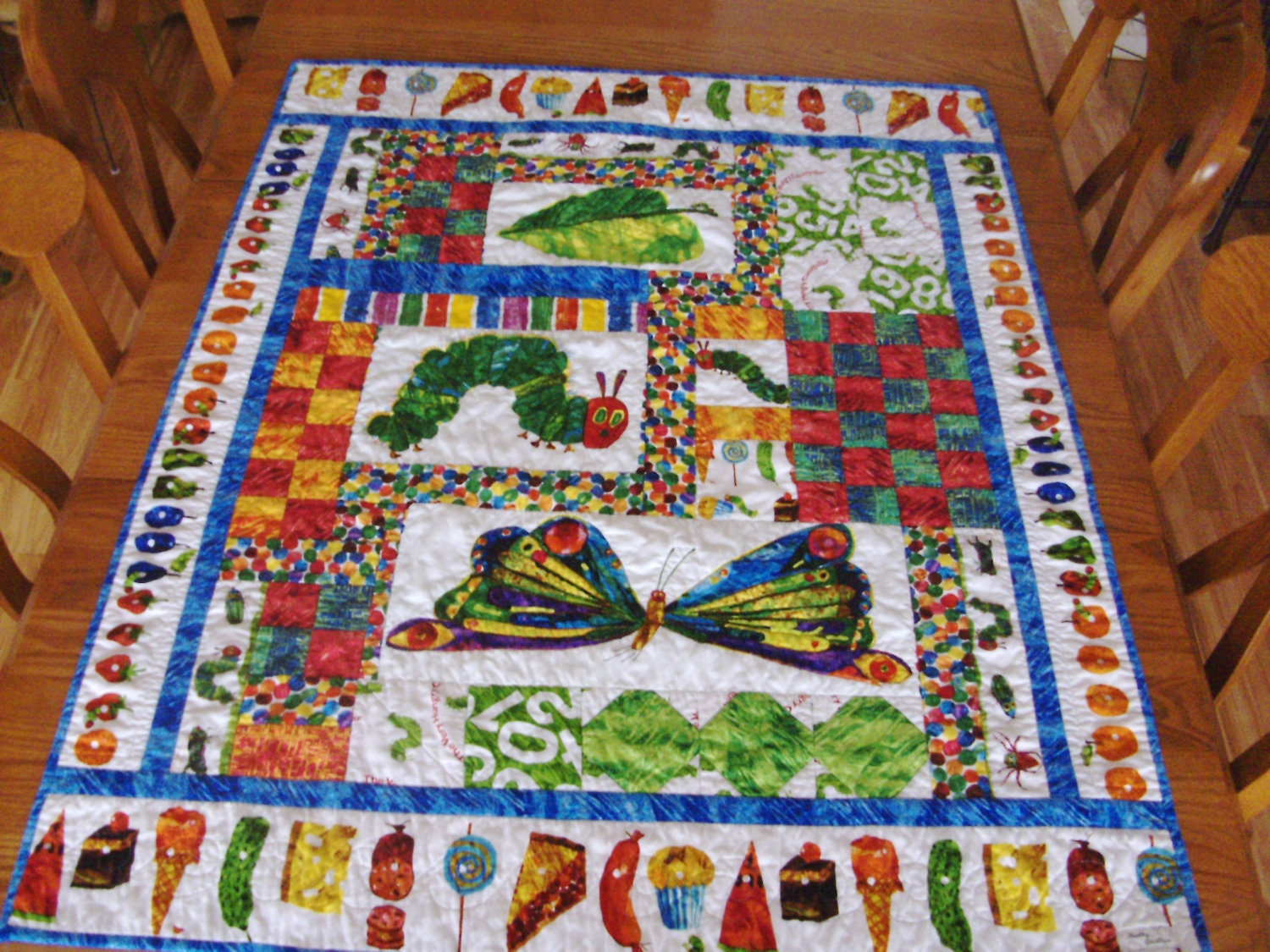 the very hungry caterpillar quilts - Google Search | Quilts ... : the hungry caterpillar quilt - Adamdwight.com