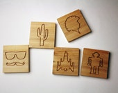 Coasters for Hipsters - made from reclaimed pallet wood