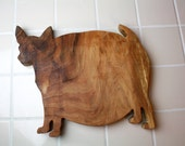 Fat Chihuahua Cutting Board - Oiled Hardwood