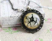 Horsewoman vintage necklace - Shabby Chic - Victorian style - Antiques - Free shipping