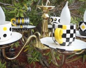 Custom Teacup Chandelier