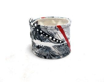 Mens Hemp Cuff Bracelet Wrist Band Large - Masculine Fashion Cuff - Black Cuff - Grey Cuff - Mans Jewelry - Wide Cuff - Hemp Bracelet