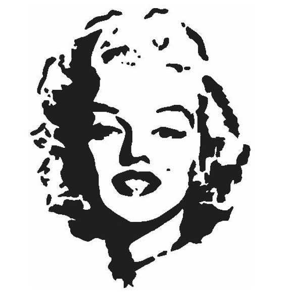 marilyn monroe stencil pictures to pin on pinterest