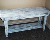 Rustic Console Table ,Console Table Shabby Rustic Chic  Furniture, , Foyer Table , ,,Sofa Table, side  table, Mudroom Bench, Coffe Table