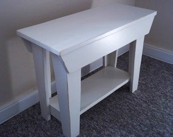 Shabby 24 inch Entry Wood Bench Furniture - Entryway bench - Mudroom Bench