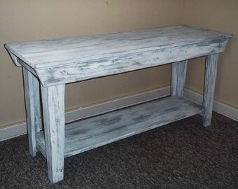 Rustic Entertainment Table. Weathered Table , Side Table , Foyer Table