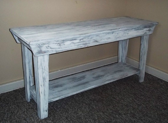 Table Shabby Rustic Chic Furniture T V Stand By