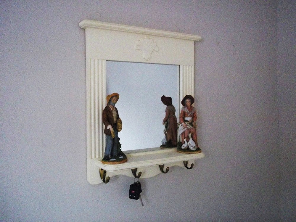Mirror with Shelf and Key Hooks Furniture by daleswoodandmore