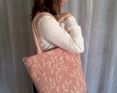 Cherry Blossom Embroidered Tote.