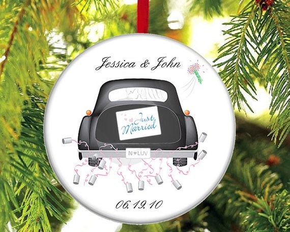 Newlywed Christmas Ornament - Just Married