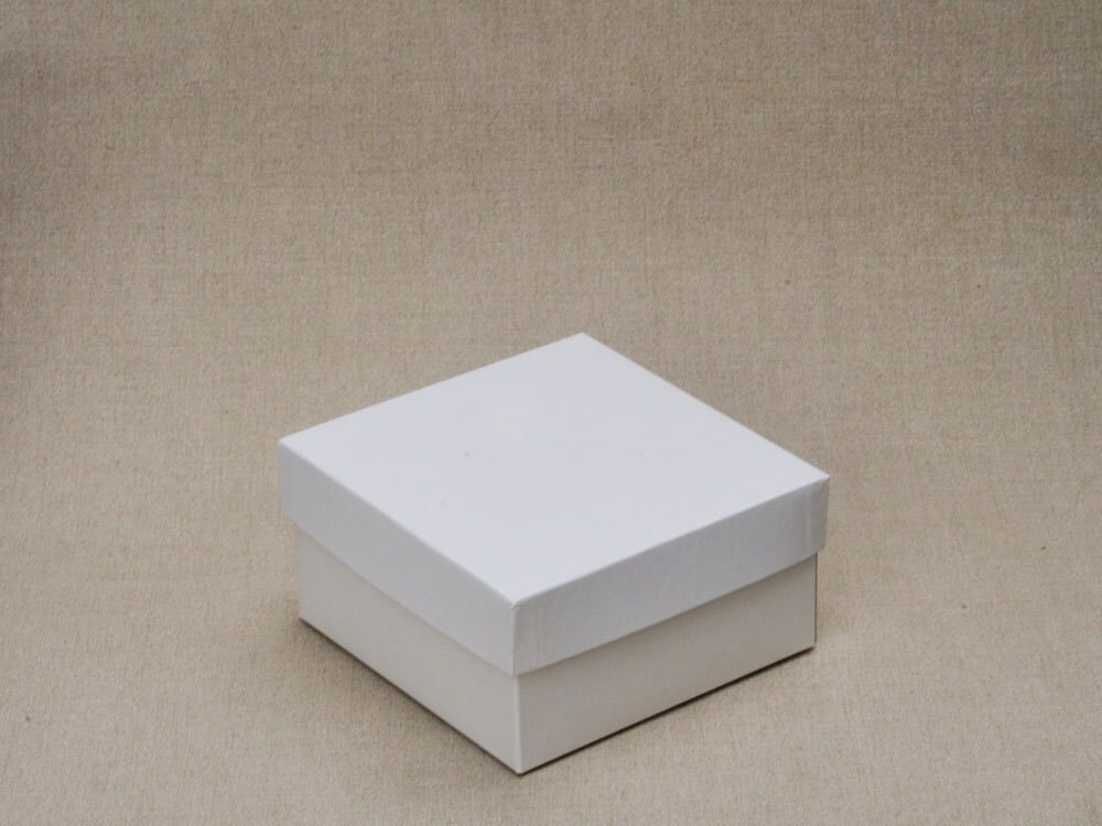 10 large white gift boxes with lid 6x6x3 set of 10. Black Bedroom Furniture Sets. Home Design Ideas