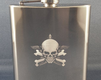 Buy 2 Get 1 Free 6 oz Etched FLASK Stainless Steel Photo Engraved Custom Personalized ENGRAVED  Free Shipping Photo Engraved