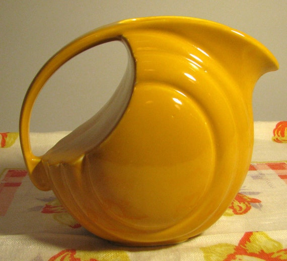 Vintage Hall china Streamline Jug or Pitcher in Warm Yellow