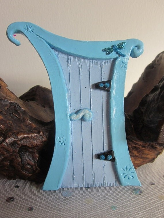 Fairy Door - Dragonfly Magic (Blue)