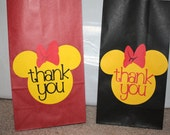 """Minnie Mouse """"Thank You"""" bags"""